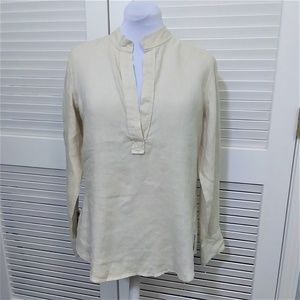Banana Republic 100% Linen Long Sleeve Tunic